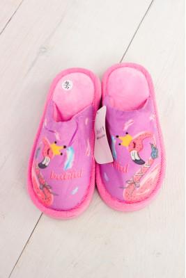 """Тапочки для девочки """"Фламинго"""""""