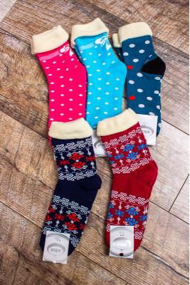 Носки женские с опушкой (зима)