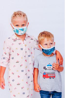 Маска двухслойная для детей