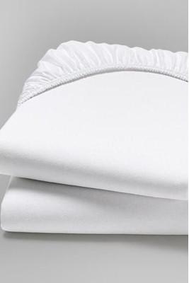 Простынь на резинке двуспальная (Белый)