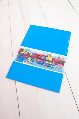 Цветной картон А4 двусторонний 9 листов