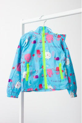 """Куртка-ветровка для девочки """"Котики"""""""