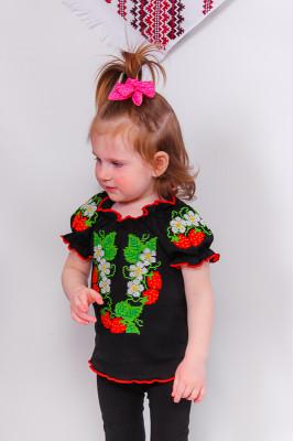 Вышиванка для девочек с коротким рукавом